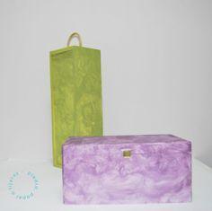 cajas pintadas con una esponja