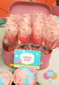 Kiddie Soiree 's Birthday / Peppa Pig - Photo Gallery at Catch My Party 3rd Birthday Parties, 4th Birthday, Birthday Ideas, Party Themes, Party Ideas, Theme Parties, Pig Party, Party Places, Fiesta Party