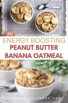 You never knew breakfast could taste this good until you try this peanut butter banana oatmeal. It helps you power through your morning, with potassium-rich bananas, healthy fats, and energy-boosting, omega 3 powered chia seeds. Plus, it is 100 percent dairy-free and vegan! Best Vegan Recipes, Vegan Dinner Recipes, Vegan Breakfast Recipes, Best Breakfast, Vegan Dinners, Popular Recipes, Raw Food Recipes, Cooking Recipes, Favorite Recipes