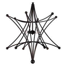 """Omega Chandelier - 27""""W x 32""""H from Z Gallerie    """"Our stylish Omega chandelier is designed with a clean contemporary reference to a classic design, with its traditional star-shaped frame and spherical detail at the points. The fixture is crafted of steel with an English Bronze finish and four round bulbs at the center, adding to the modern appeal. The star is replicated in the ceiling cap as another well-designed detail. """"    GORGEOUS!"""