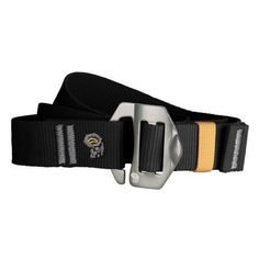 Mountain Hardwear Men's Alloy Nut Belt, One Size, Black by Mountain Hardwear. $29.95. 30 mm recycled polyester webbing belt with an anodized aluminum alloy nut buckle. Offset logo screen print on webbing for extra style points..