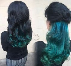 13 Underlights Hair Color Ideas That Are Cooler Than Anything From The – unterhellt Haare Hair Color Underneath, Under Colour Hair, Under Hair Dye, Peekaboo Hair Colors, Underlights Hair, Latest Hair Color, Dye My Hair, Underdye Hair, Green Hair