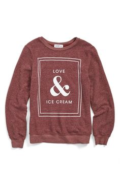 The sugary-sweet graphic on this baggy-fit pullover may be minimalist, but the love for ice cream sure isn't.