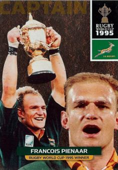 The 1995 Rugby World Cup Final, was the final match in the 1995 Rugby World Cup, played in South Africa. The match was played at Ellis Park Stadium, Johannesburg on 24 June 1995 between the host nation, the South African Springboks, and the New Zealand All Blacks. World Cup Final, All Blacks, Rugby World Cup, Rugby Players, African History, My Passion, Athletes, South Africa, The Past