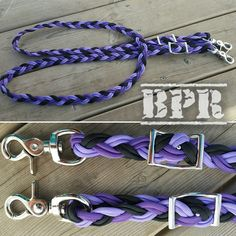 Adjustable Reins 6 Strand Flat Braid Custom Colors Paracord Horse Tack Barrel Reins- Scissor Clasp by BrodsParacord on Etsy