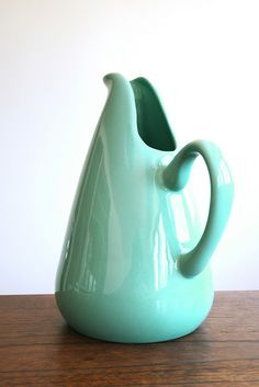 Russel Wright American Modern Pitcher in Turquoise by bauerpottery, via Flickr