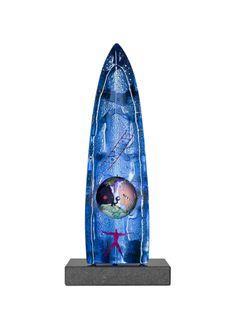 Blue Planet Limited Art Glass, design by Bertil Vallien for Kosta Boda