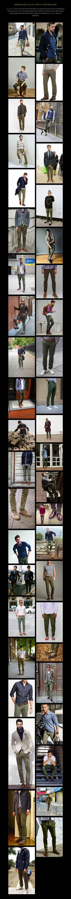 GREEN AND OLIVE PANTS INSPIRATION