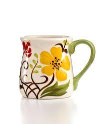 Resultado de imagem para vida by Espana Dinnerware, Jardine Collection - Macy's Painted Ceramic Plates, Painted Cups, Hand Painted Ceramics, Pottery Painting, Ceramic Painting, Ceramic Art, Porcelain Dinnerware, Porcelain Ceramics, Paint Your Own Pottery