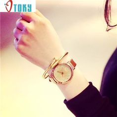 2.04$  Watch now - http://alihpz.shopchina.info/go.php?t=32522692820 - Novel design Fashion Women 1PC Sands Starry Simple Temperament Belt Table Diamond Quartz Watches P14jz Dropshipping  #buymethat
