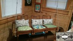 Recycled Chair Swing - Sun Baked Treasures Blog
