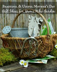 Beautiful & Useful Mother's Day Gift Ideas for Moms Who Garden {& free printable!} - Simplify, Live, Love