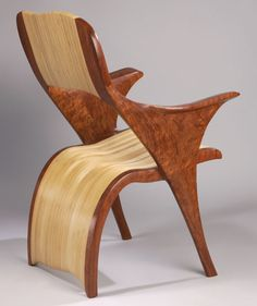 Wood, Kerry Vesper, Artist, Thatza Chair, Bubinga and Baltic Birch