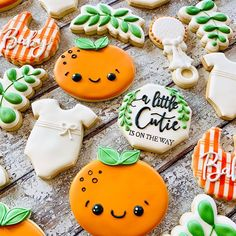 Baby Girl Shower Themes, Baby Shower Decorations For Boys, Baby Shower Gender Reveal, Baby Shower Parties, Baby Shower Fall, Fall Baby, Baby Boy Shower, Baby Cookies, Baby Shower Cookies