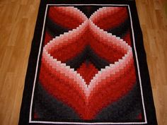 Art: Red to Black Bargello Quilt - SOLD by Artist Bonnie G Morrow