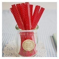 Cute polka-dot twisty ties! 30 for $3 #supplies #crafts #red