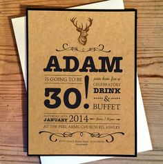 Stag Do Invitations Whose Birthday Is It, 27th Birthday, Birthday Bash, Birthday Quotes, Birthday Invitations, Thirtieth Birthday, Invites, Birthday Ideas, Invitation Design