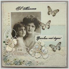 .mother & daughter vintage photo card