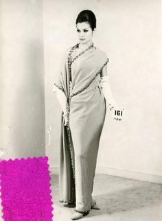 Sari, colección de invierno Balenciaga,1963.
