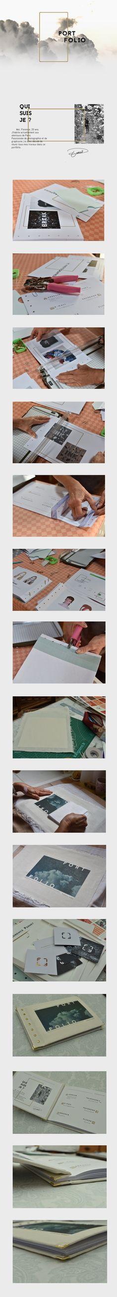 Réalisation d'un portfolio à la main.