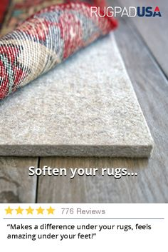 Soften your rugs and protect your floors with a quality rug pad. Made in the USA with the best materials available & custom cut to fit your rug. Home Improvement Projects, Home Projects, 3ds Max, Home Remodeling, Bathroom Renovations, Just In Case, Family Room, Sweet Home, New Homes