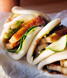 Momfuku's Steamed Buns by David Chang via gouromettravellelr: The bun that conquered the world. #Steamed_Buns
