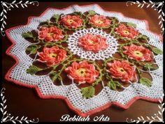 Toalha crochet com flores.jpg (450×340)