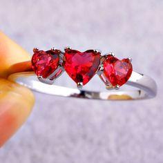 Legend of Zelda 8 Bit Hearts Ring Engagement by AllThingsGeekChic