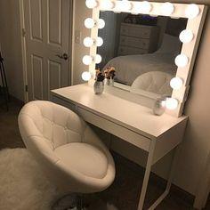 Ariana McKim added a photo of their purchase Cute Bedroom Decor, Stylish Bedroom, Teen Room Decor, Small Room Bedroom, Room Ideas Bedroom, Pinterest Room Decor, Vanity Room, Makeup Room Decor, Glam Room