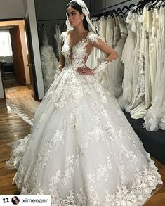 2018 Sheer Neck Luxury Arabic Wedding Dresses Full Lace Appliques Long Sleeves Dubai Wedding Dress Plus Size Bridal Gowns Robe de mariee Arabic Wedding Dresses, Arab Wedding, Lace Wedding Dress, Western Wedding Dresses, Gorgeous Wedding Dress, Wedding Dresses Plus Size, Long Sleeve Wedding, Dream Wedding Dresses, Bridal Dresses