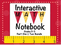 Interactive Math Notebook Grades 3-5 31 Activities