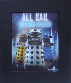 FRAMED Rare Doctor Who Dr. Who All Hail the New Daleks Poster Print Matt Smith