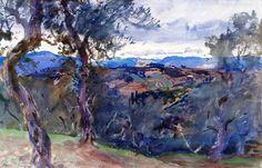 John Singer Sargent (1856-1925)Hillside (c. 1910) watercolor 33.97 x 53.02 cmMuseum of Fine Arts, Boston