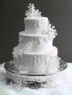 Winter Wedding Cake: Simple Winter Wedding Ideas. http://memorablewedding.blogspot.com/2014/02/simple-winter-wedding-ideas.html