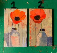 Mini Paintings, Canvas Board, Shades Of Yellow, Abstract Flowers, Photo Canvas, Acrylic Painting Canvas, Poppies, The Originals, Handmade