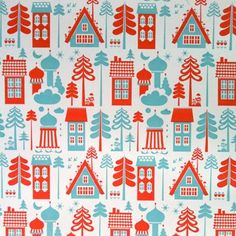 tingleby red and blue wallpaper by isak