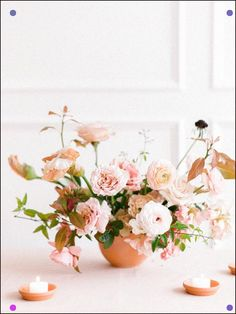 We're Taking a Trip to the Outback With This Earthy Floral Workshop - Get the scoop on these arrangements which were inspired by the warm rust, terra cotta, and coral tones of the Australian outback. Modern Wedding Flowers, Spring Wedding Flowers, Flower Bouquet Wedding, Floral Wedding, Wedding Colors, Autumn Wedding, Boquet, Floral Centerpieces, Wedding Centerpieces