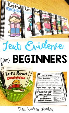 Guided Reading made easy with-Text Evidence for Beginners.