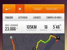 Dribbble - Dear Nike Running app... by Daniel Aláez