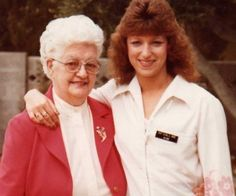 Great Aunt Peggy and Kim in 1980.  I was a blackjack dealer at the Castaways on the strip in fabulous Las Vegas.