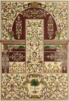 Photograph-German Renaissance ceiling and wall painting, Creator: Unknown-Photograph printed in the USA Renaissance, Arabesque, Fine Art Prints, Framed Prints, Poster Prints, Wood Rosettes, Antique Prints, Plate, Textile Prints