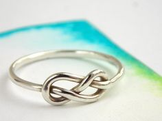 Infinity Knot Ring-- Sterling silver ring, love ring, love knot, promise ring, infinity friendship ring on Etsy, $25.00