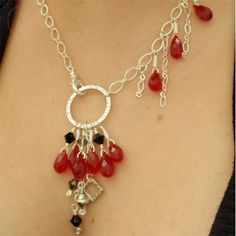 chrystal drops necklace
