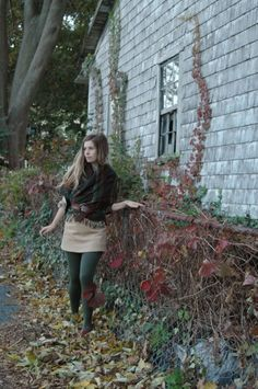 Green Tights, Colored Tights, Tights And Boots, Preppy Style, My Style, Chunky Scarves, Blonde Women, Fall Looks, Thrifting