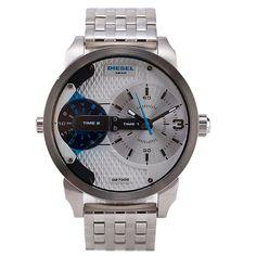 Diesel DZ7305 Little Daddy Sliver Stainless Steel Men's Watch $200.00 #Diesel #Watches #menswear #Analog #Quartz #wristwatch #Steel