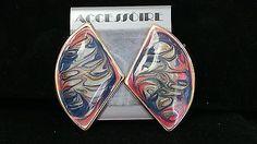 Diversity-Gold-Tone-Pastel-Swirl-Enamel-Pierced-Earrings
