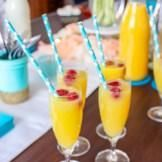 Add in striped paper straws to give your mimosas an extra touch of fun color.