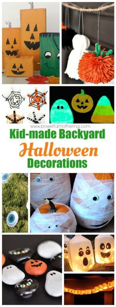15 Fun Halloween Crafts for Kids to make at Home - Kid kid, DIY - halloween decorations to make at home for kids