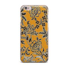 Golden Blossom iPhone Case by Vikki Salmela, 50% off #SALE through 11-30!  If you're gonna be attached at the ear to your #cell #phone, might as well look good doing it! These silicone phone cases are flexible and form around your phone, #English #flower #garden #art on #tech #accessory #iPhone #iPhone6/6s #iPhone5 perfect for a #holiday #gift