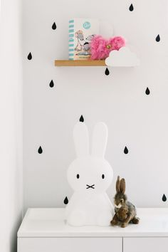 Believe it or not, this bunny isn't purely decorative... it's a lamp!